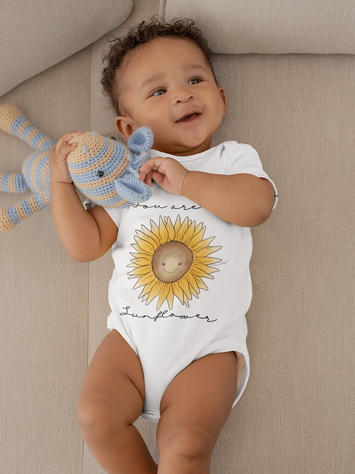 You Are My Sunflower Bodysuit | Handmade Baby Bodysuit | Cute Sunflower