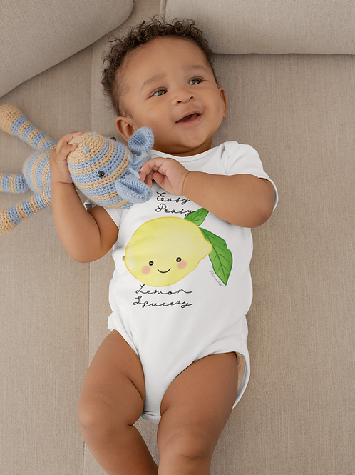 Easy Peasy Lemon Squeezy Bodysuit | Handmade Baby Bodysuit | Cute Lemon