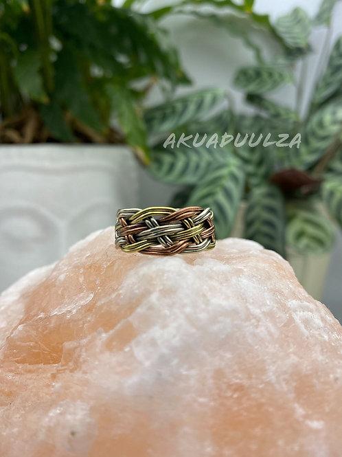 Braided ring made in Nepal / Bohemian Nepali Ring / Hippie Boho Ring