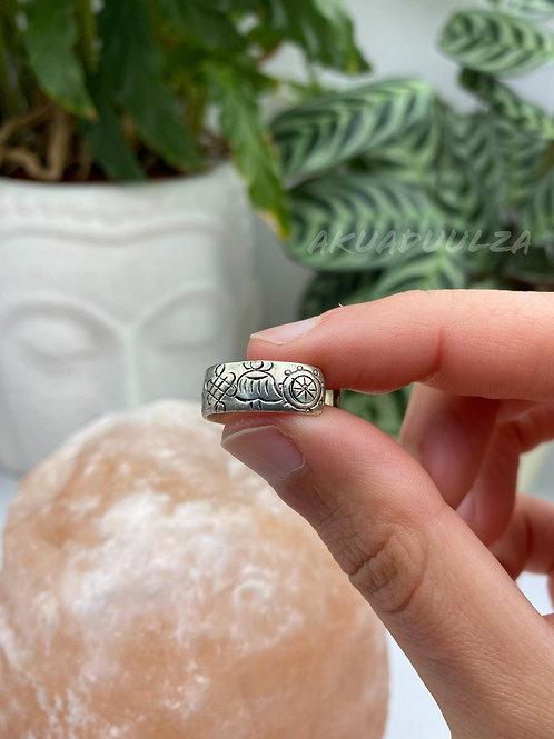 Buddhist Ring / Auspicious buddhist symbols ring