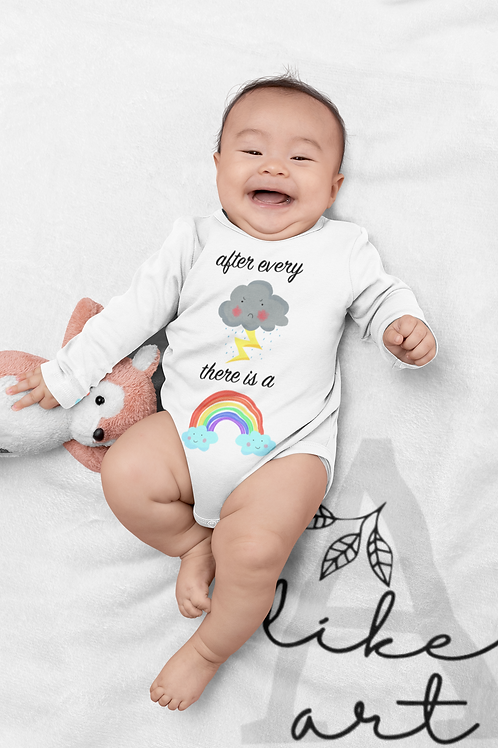 After Every Storm There Is A Rainbow Bodysuit | Handmade Baby Bodysuit