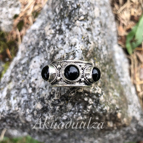 Nepalese Onyx Ring / Ethnic Ring