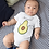 Thumbnail: Avocuddle Bodysuit | Avocado Handmade Baby Bodysuit