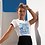 Thumbnail: Hippie Tie Dye Hamsa Hand T shirt | Handmade Illustration