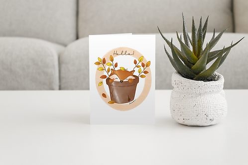 Cute Fox Handmade Greeting Card / A5 Card | Wild Illustration