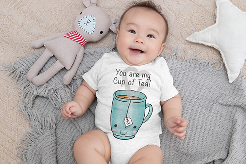 You Are My Cup Of Tea Bodysuit | Handmade Baby Bodysuit