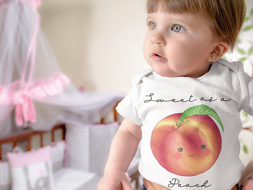 Sweet As Peach Bodysuit | Handmade Baby Bodysuit