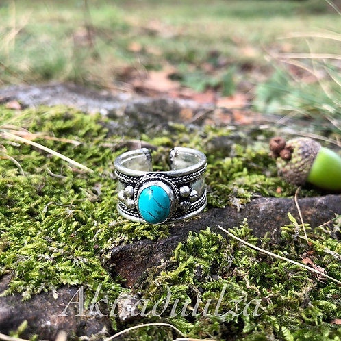 Ethnic Turquoise Stone ring / Bohemian turquoise ring