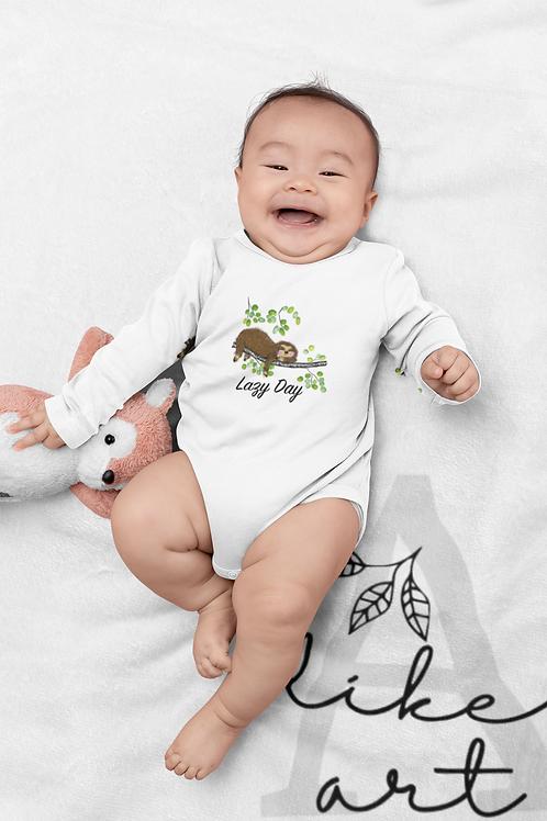 Lazy Day Bodysuit | Handmade Baby Bodysuit | Cute Sloth