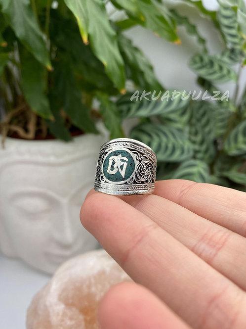 Om Tibetan Ring / Hippie Boho Ring / Nepalese Ring