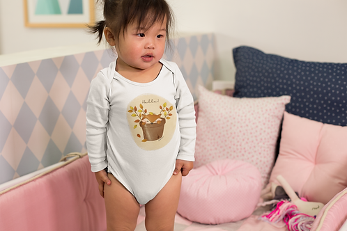 Cute Fox Bodysuit | Handmade Baby Bodysuit
