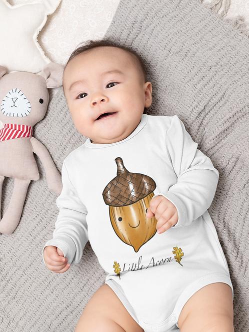 Little Acorn Bodysuit | Handmade Baby Bodysuit