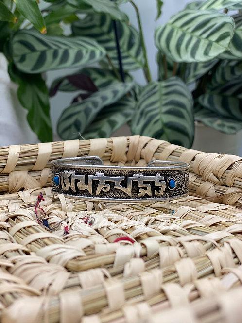 Buddhist Mantra Bracelet / Ethnic Cuff bracelet / Himalayan Tibetan Jewellery