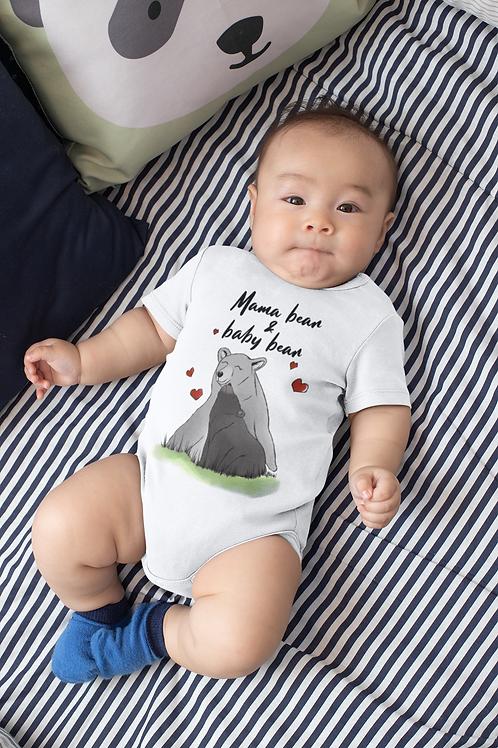 Mama Bear And Baby Bear Bodysuit | Handmade Baby Bodysuit | Cute Bear