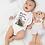 Thumbnail: Mama Bear And Baby Bear Bodysuit | Handmade Baby Bodysuit | Cute Bear