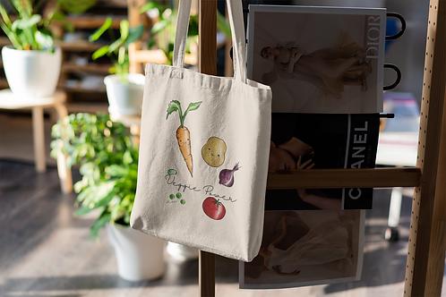 Veggie Power Tote Bag | Hand Made Illustration