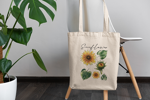 Sun Flower Tote Bag | Hand Made Illustration