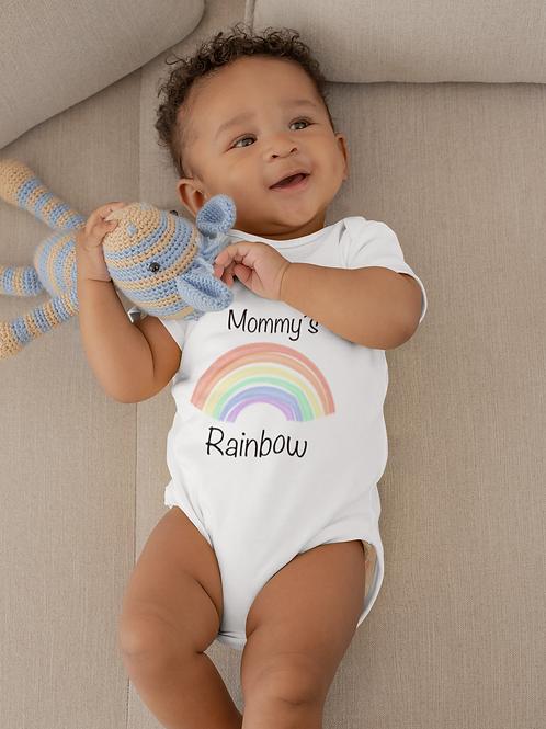 Mommy's Rainbow Bodysuit | Handmade Baby Bodysuit | Cute Rainbow