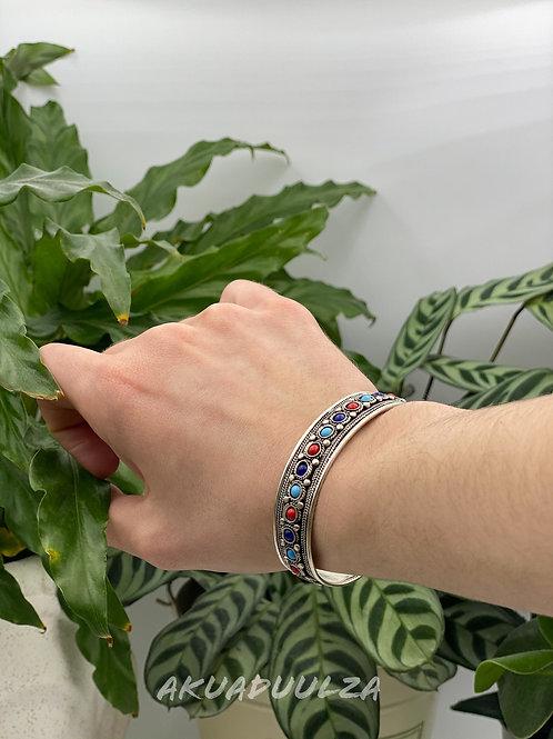 Colourful beads Bangle / HIPPIE BOHO / Ethnic Cuff bracelet