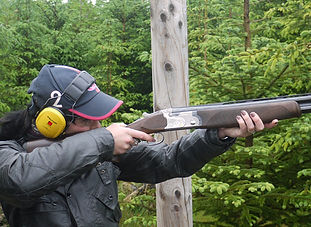 Father and Son Shooting Lesson