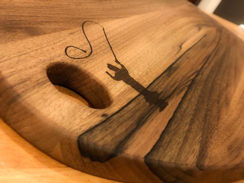 Handmade cutting board.