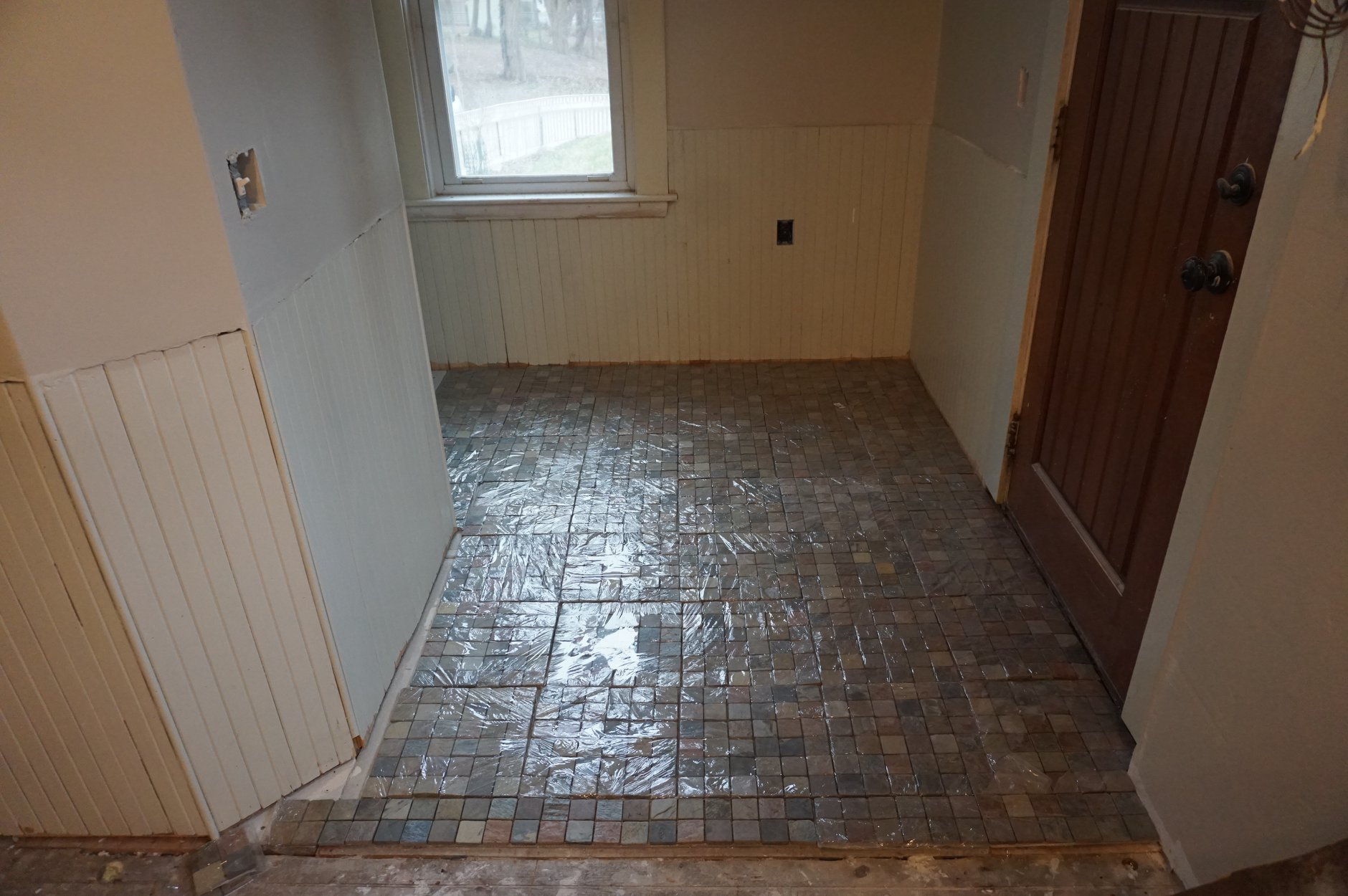 back entry tile floor