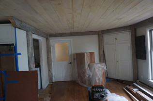 Reclaimed beams in new kitchen