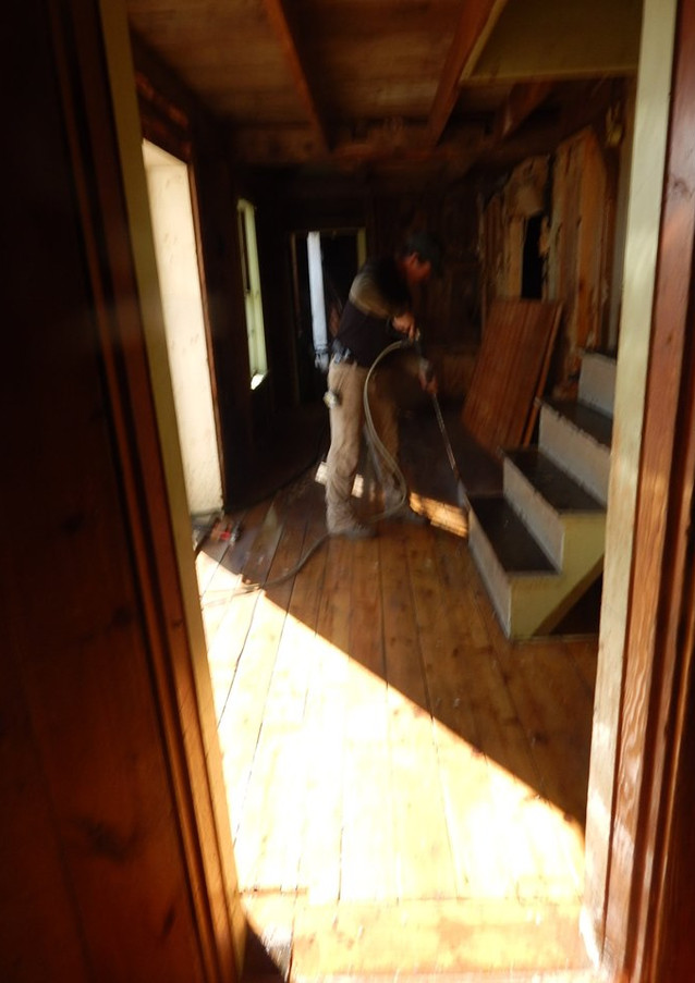 power washing floors firewood entry way