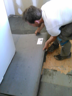New cement board for floor tile