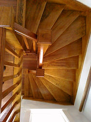 Custom Stairs by BJL Built of Jay, Maine