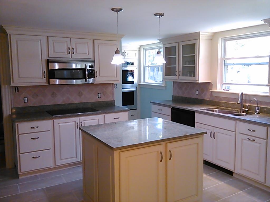 kitchen finished island