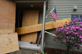 lam beam in doorway going in