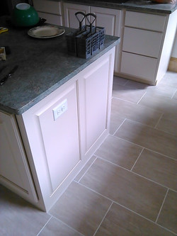 Kitchen finished new floor