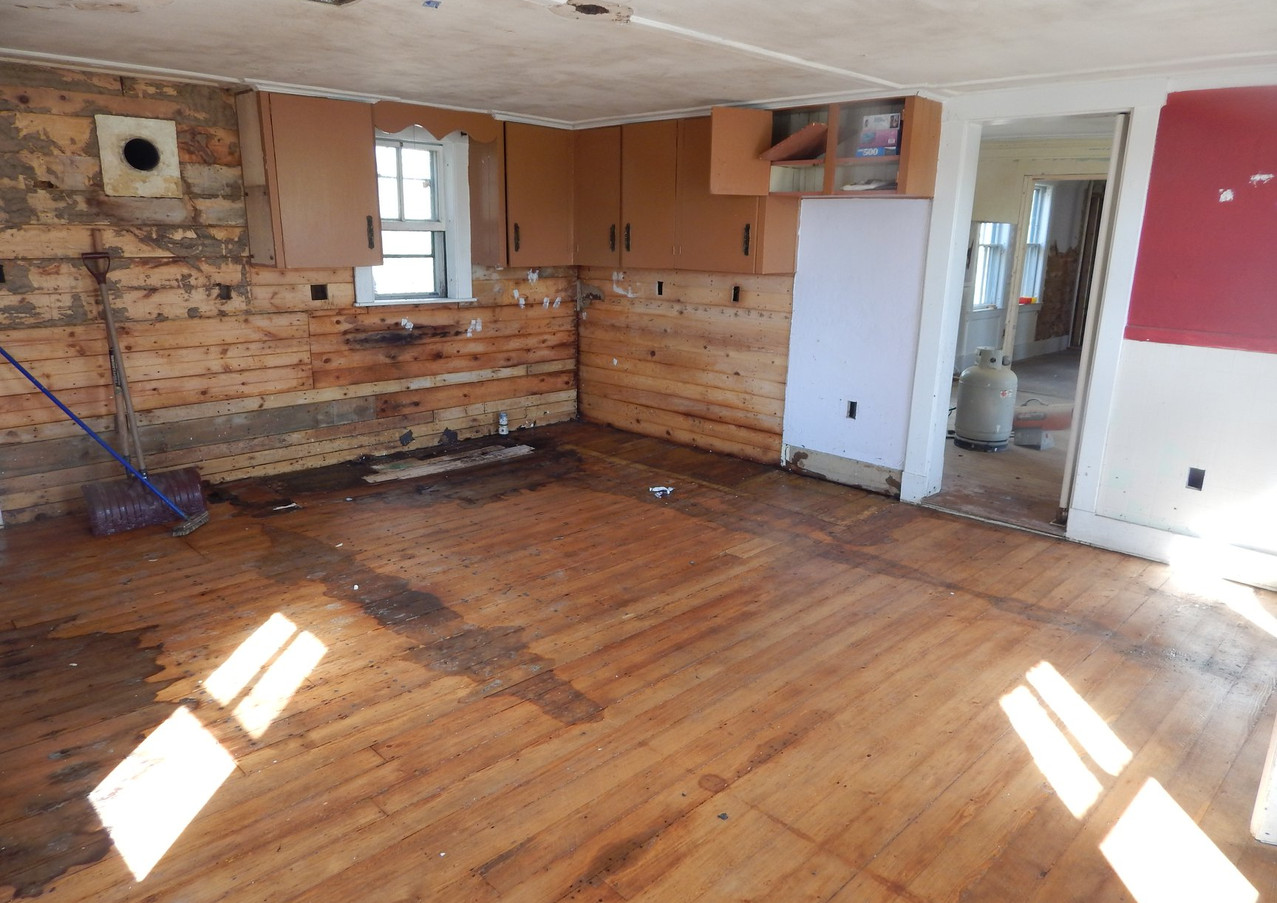Kitchen completely gutted
