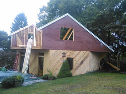 Garage with 2nd story going on