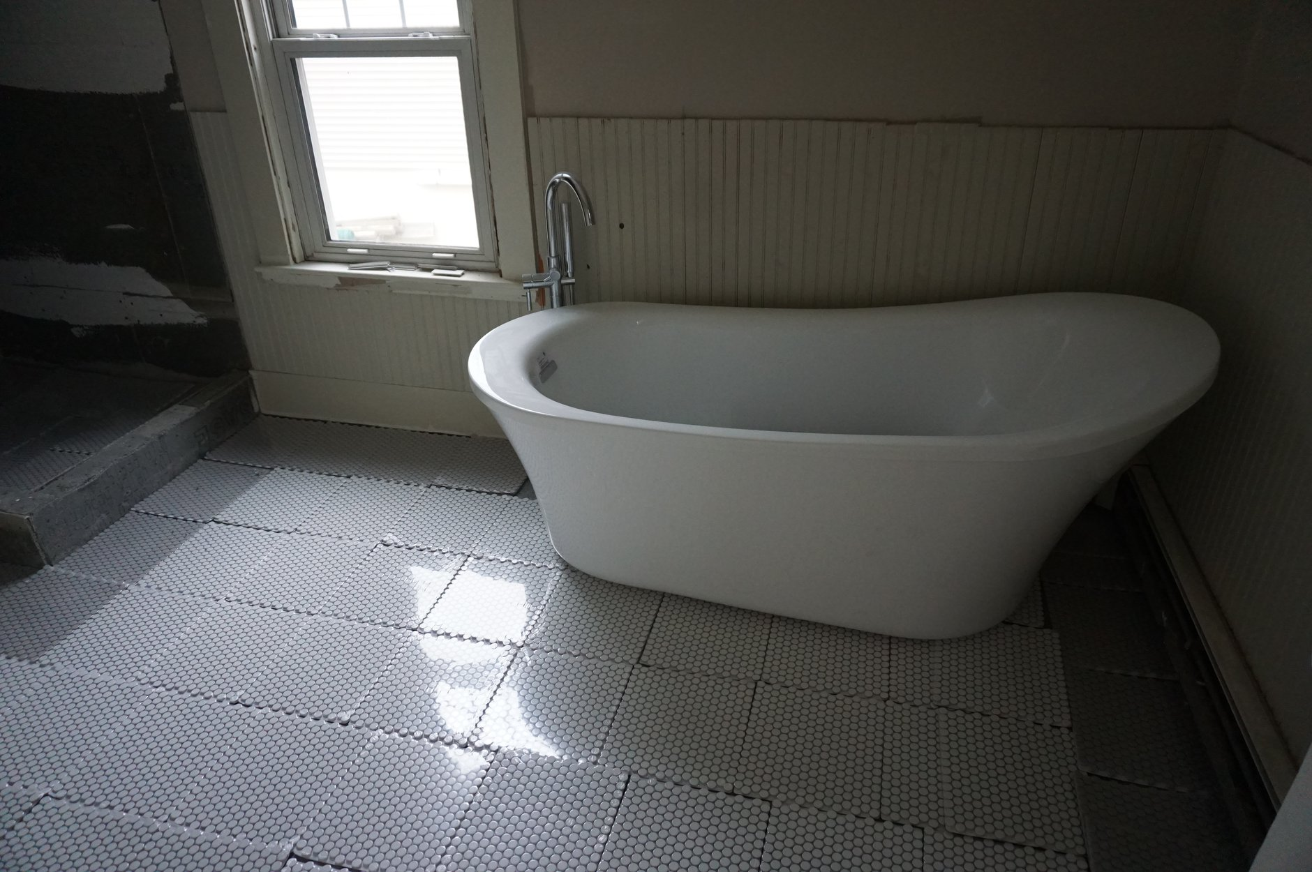 Soaking tub in 2nd floor bathroom
