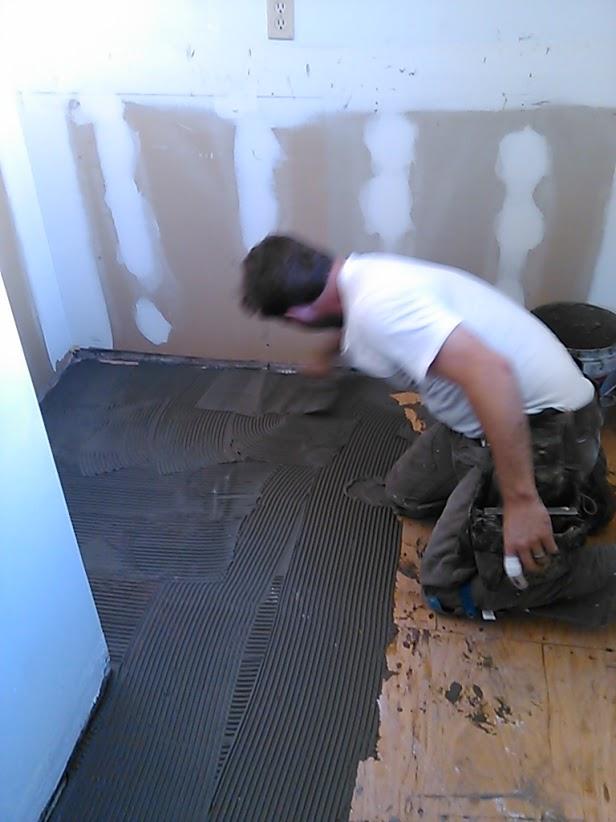 prep for new tile