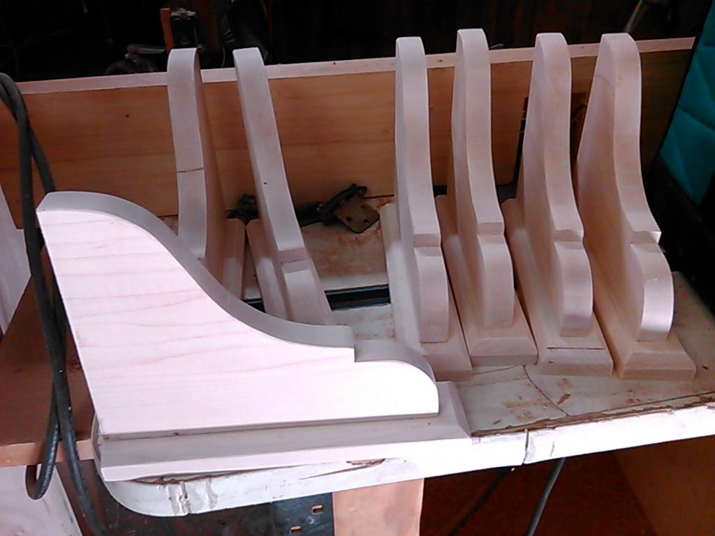 Custom milled shelf braces
