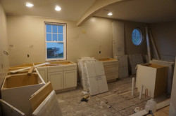 Kitchen cabinets going in