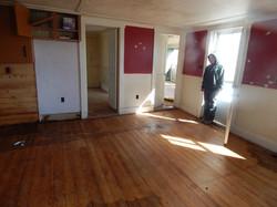 kitchen floors pre power was