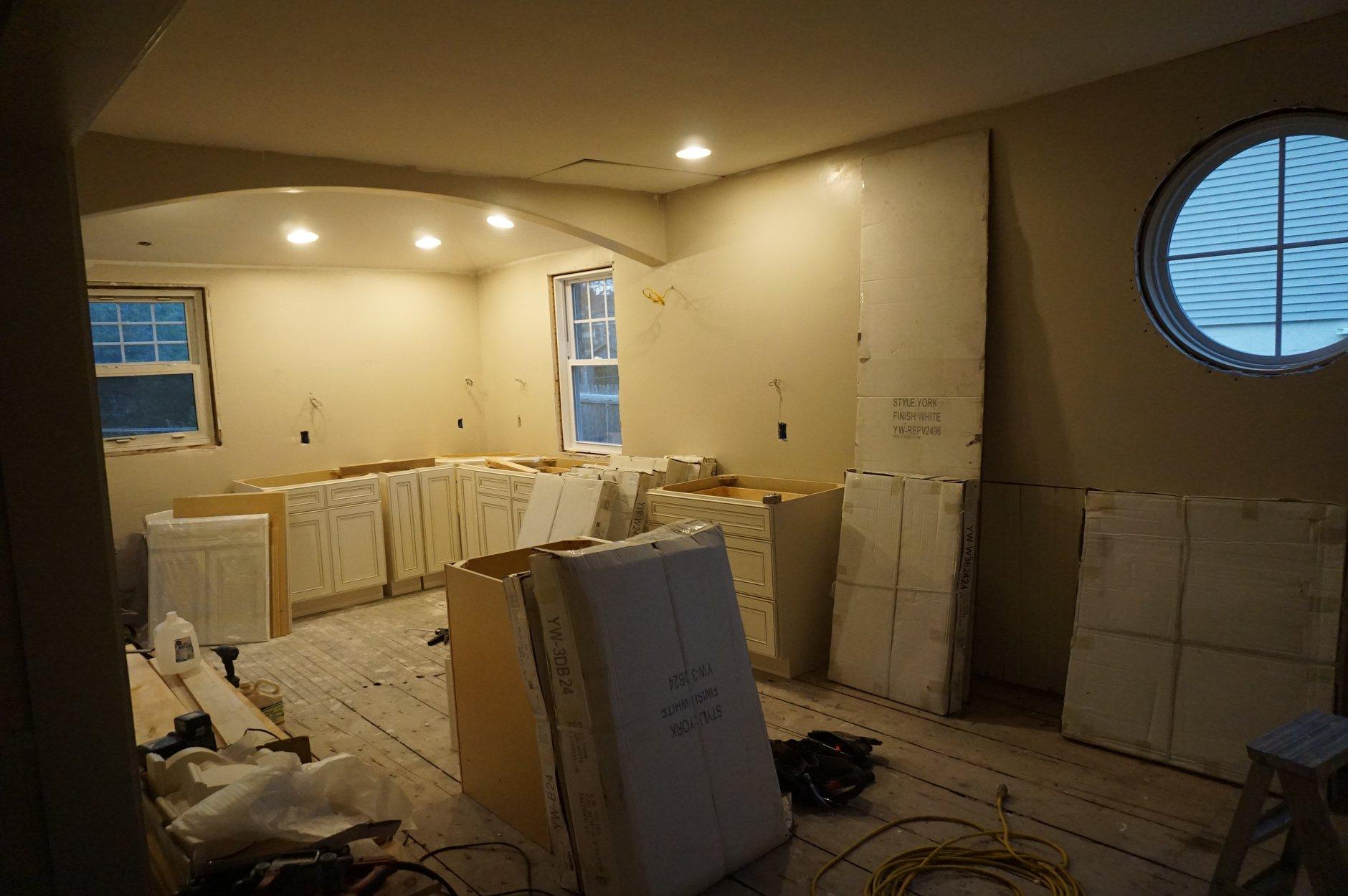 Mid renovation