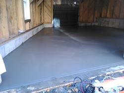 Cement floor in