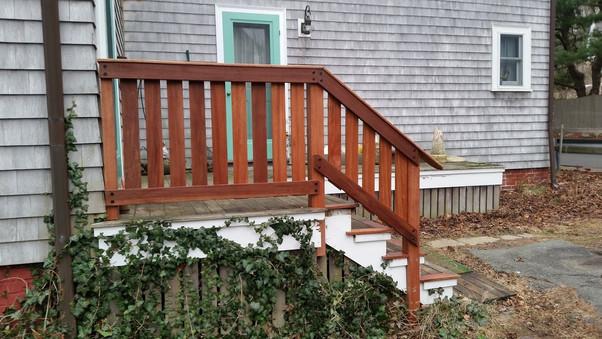 Stair repair and new railing