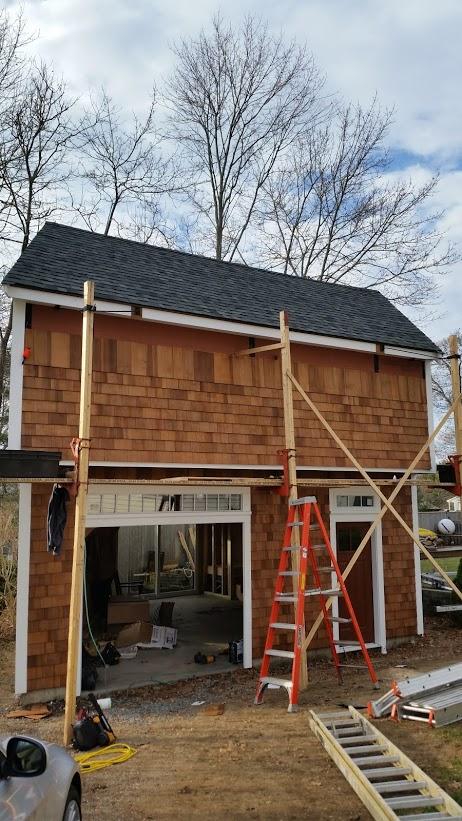 garage front shingles