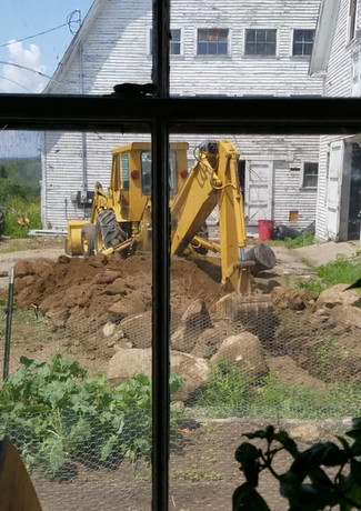 Digging trench for electric lines