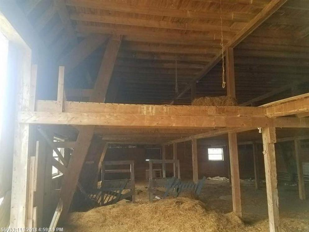 1st floor of barn before renovations 2019