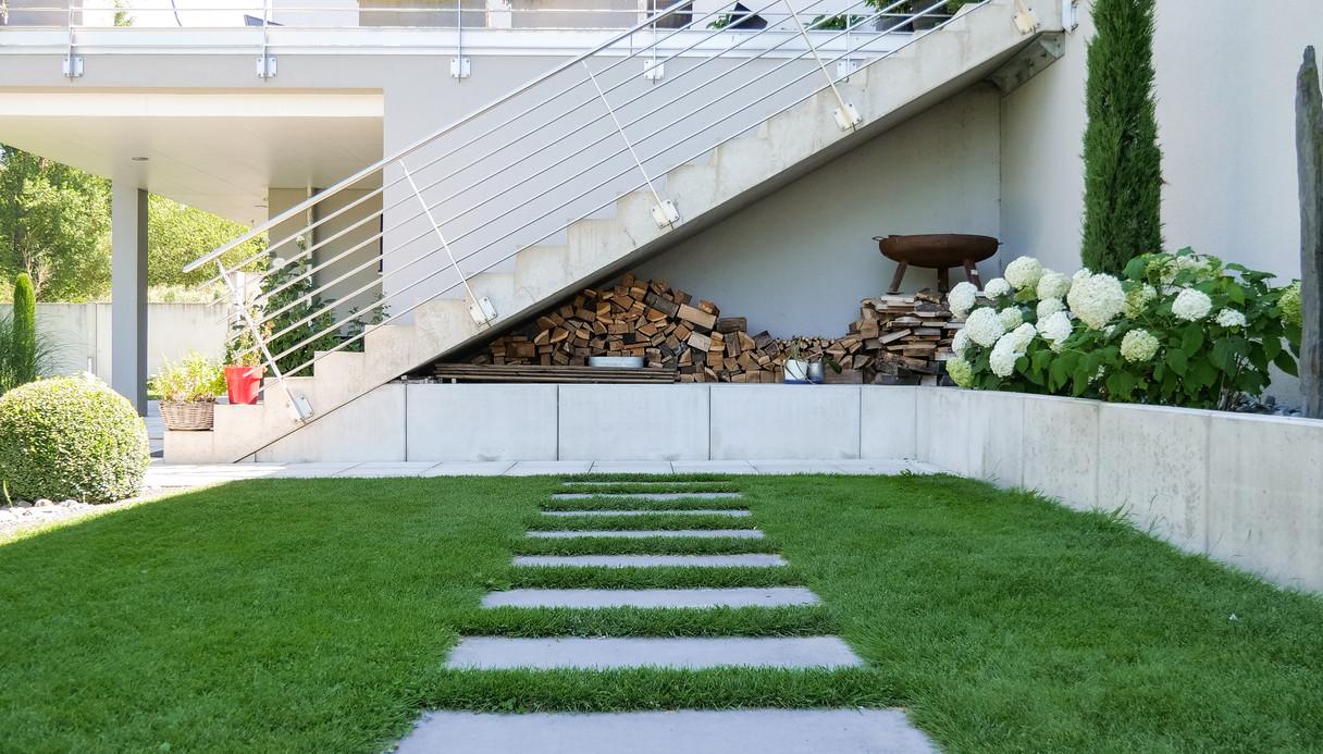 Gartengestaltung, Platten, Wege, Häußlein