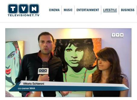 Vittorio Schieroni intervistato da Televisionet per la mostra di Andy