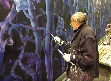 Vittorio Schieroni filma il pittore Ercole Pignatelli a Palazzo Lombardia