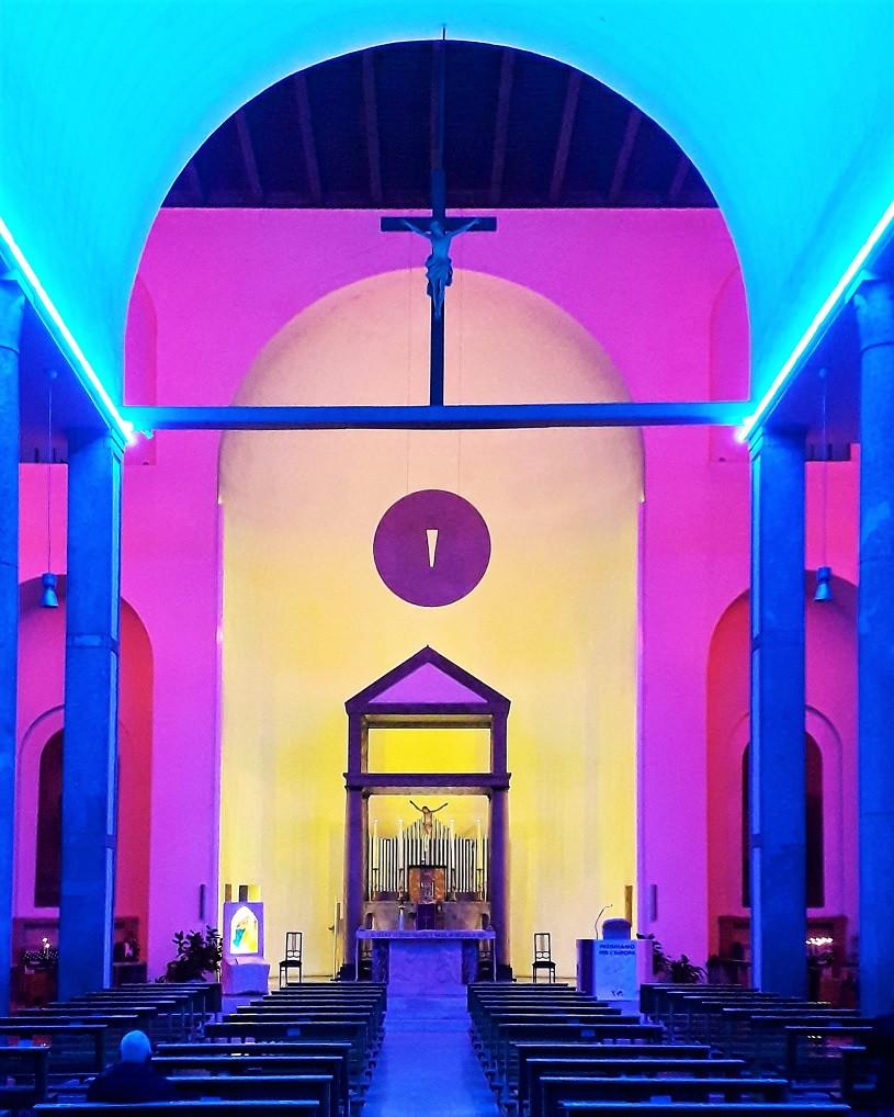 Dan Flavin in Chiesa Rossa